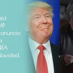Donald Trump y el anuncio de la Lotería de Navidad