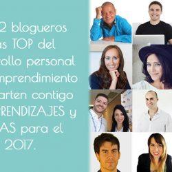 Los 12 blogueros más top del desarrollo personal comparten sus aprendizajes y metas