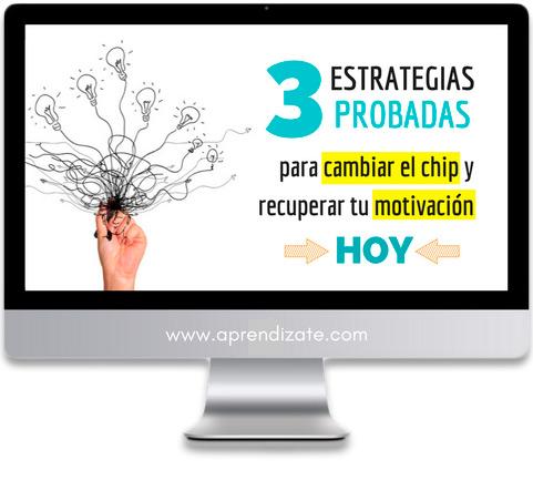 3 ESTRATEGIAS<br /> <span style='color: #404040;'>PROBADAS PARA CAMBIAR EL CHIP Y RECUPERAR TU MOTIVACIÓN HOY</span>